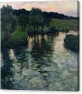 Landscape With A River Canvas Print