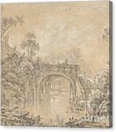 Landscape With A Rustic Bridge Canvas Print