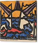 Landscape With A Sun Canvas Print