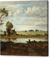 Landscape With Boatman Canvas Print