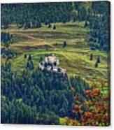 Landscape With Castle Canvas Print