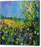 Landscape With Cornflowers 459060 Canvas Print