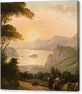 Landscape With Decorative Canvas Print
