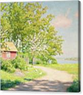 Landscape With Pickling Hens Canvas Print
