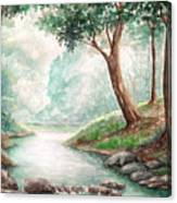 Landscape With River Canvas Print