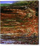 Landscape With Sky Reflected Canvas Print