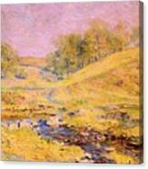 Landscape With Stream Canvas Print
