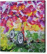 Landscape Women Bike Canvas Print