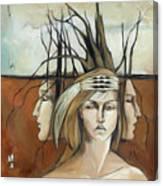 Landscaped Headdress Canvas Print