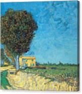 Lane Near Arles Canvas Print