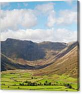Langdale Fell And Pikes Panorama Canvas Print