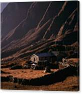 Langtang Village Canvas Print