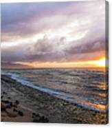 Laniakea Beach Sunset Canvas Print