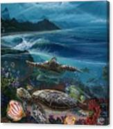 Laniakea Line Up Canvas Print