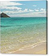 Lanikai Beach 4 Pano - Oahu Hawaii Canvas Print