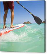 Lanikai Stand Up Paddling Canvas Print