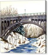 Lanterman Falls Bridge - Mill Creek Park Canvas Print
