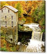 Lantermans Mill In Fall Canvas Print