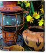 Lantern With Baskets Canvas Print