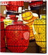 Lanterns In Market Place Canvas Print