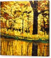 Lanterns Of Gold Vi Canvas Print