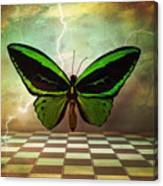 Large Green Wings Canvas Print