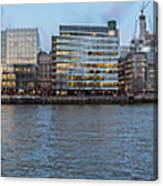 Large Panorama Of Downtown London Betwen The London Bridge And T Canvas Print