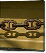 Large Rusted Chain And Its Shadow Canvas Print