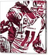 Larry Fitzgerald Arizona Cardinals Pixel Art 1 Canvas Print