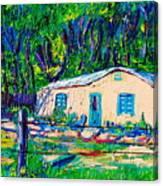 Las Casas De Nuestros Vecinos  Canvas Print