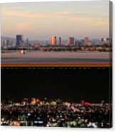 Las Vegas Skyline At Dawn And At Night Canvas Print