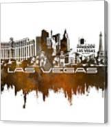 Las Vegas Skyline City Brown Canvas Print