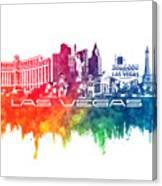 Las Vegas Skyline City Color Canvas Print