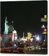 Las Vegas Strip At Night Canvas Print