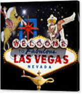 Las Vegas Symbolic Sign Canvas Print