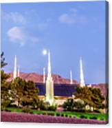 Las Vegas Temple Moon Canvas Print