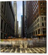 Lasalle Street Commuter Action Canvas Print
