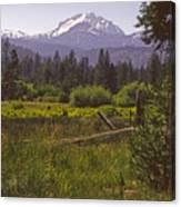 Lassen Peak Summer Canvas Print