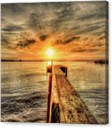 Last Call At Sunset Dock Canvas Print