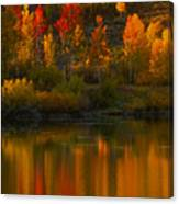 Last Light At Oxbow Bend  Canvas Print