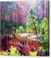 Last Light In Zion Canvas Print