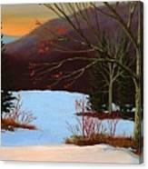 Last Light Of Day Canvas Print