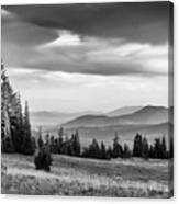 Last Light Of Day In Bw Canvas Print