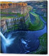 Last Light On Palouse Falls Canvas Print