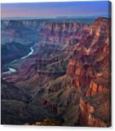Last Light On The Canyon Canvas Print