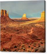 Last Light Over Monument Valley Canvas Print