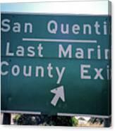 Last Marin County Exit Canvas Print