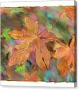 Last Of The Fall Leaves Abstract Digital Art Canvas Print