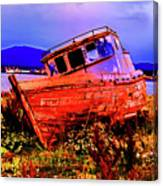 Last Red Boat Canvas Print
