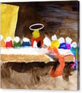 Last Supper W-judas Canvas Print